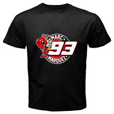 New MARC MARQUEZ 93 Logo Moto GP Rider Champion Mens Black T-Shirt Size S to 3XL