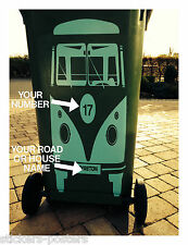 VW STYLE  Campervan Wheelie Bin Sticker Decal Volkswagen Splitscreen