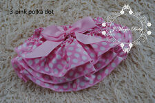 Baby Girls Newborn Satin Ruffle Bloomers Pant Nappy Cover Floral Photo Prop
