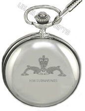 ENGRAVED NAVAL POCKET WATCH: SUBMARINERS