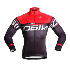 Sobike Cycling Fleece Thermal Men's Red Long Sleeve Long Jersey-Firewire New