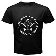 New The Sisters Of Mercy Post Punk Goth Rock Band Men's Black T-Shirt Size S-3XL