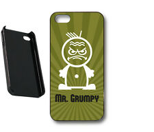 Mr Grumpy angry face mens funny khaki green Case cover skin for iPhone 4, 4s, 5