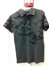 Iron Fist Crowbar Polo - Charcoal Overdye - IF0708 - Fabricated Violence  - NWT