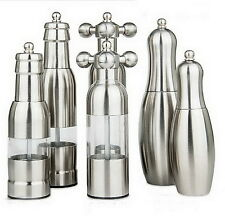 Stainless Salt Pepper Mill Hand Driven Grinder Faucet Valve/bottle/gutterball