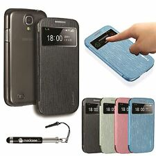 Elegant S View PU Leather iSmile Case Cover for Samsung Galaxy S4 i9500 i9505