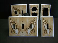 PRAYING HANDS INSPIRATIONAL THEME  LIGHT SWITCH OR OUTLET COVER V454