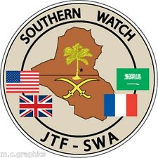 STICKER MILITARY JOINT TASK FORCE SOUTHERN WATCH