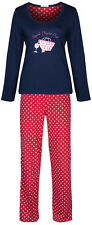 Marks & Spencer Womens Cotton Pyjamas Set Long M&S PJs Nightwear Bottoms & Top