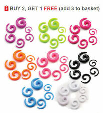 Ear Stretcher Expander Acrylic Spiral Taper 12G 2mm - 0G 8mm Choose Colour Size