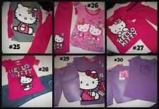 * NWT NEW GIRLS 2PC HELLO SHIRT PANTS OUTFIT SET 2 3 4 5