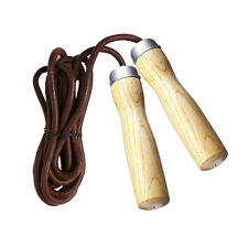LEATHER SKIPPING JUMP SKIP ROPE - BALL BEARING SWIVEL NEW 2.84 Meter