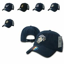 1 Dozen US Military Air Force Army Marines Navy Cotton Polo Hats Caps Wholesale