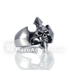 High Quality Men's 316L Stainless Steel Skull Ring  SIZE   8 9 10 11 mssr29