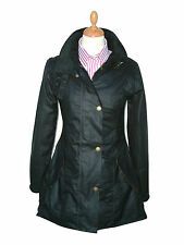 NEW OXFORD BLUE LADIES WOMEN'S KATRINA WAX JACKET COAT BLACK SIZE M12 L14 XL16