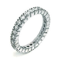 2.5 Ct. Cubic Zirconia Sterling Silver Eternity Ring, Rhodium Plated