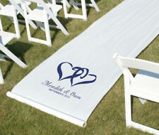 """Hortense Personalized Custom Color Linked Hearts Wedding Aisle Runner 36"""" x 100"""""""