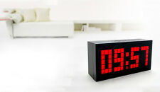 LED Digital Small Number Wall Desk Calendar Temperature Snooze Time Alarm Clock