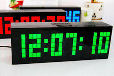 Digital Small Number LED Wall Desk Calendar Temperature Snooze Time Alarm Clock