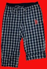 BOSTON RED SOX  Plaid WOMEN's Capri Style Lounge Pants Small, Medium, Large