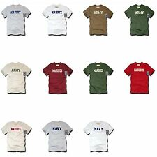 US Military Army Air Force Navy Marines Applique Felt T-Shirt T-Shirts Tees Tee