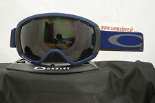 OAKLEY CANOPY MEDIEVAL BLUE DARK GREY BLACK IRIDIUM FIRE MASCHERA SNOW
