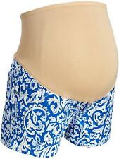NEW OLD NAVY MATERNITY SMOOTH PANEL BLUE & WHITE DENIM SHORTS 6 8 10 12 14 16 18