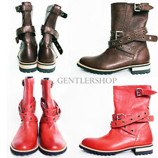 Mens Fashion Shoes High Top Wrap Around Belted Long Boots - 3940, GENTLERSHOP