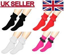 LADIES FRILLY LACE ANKLE SOCKS