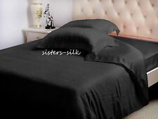 3 PCS 22MM 100% PURE SILK JACQUARD DUVET QUILT COVER PILLOWCASE SET ALL SIZE