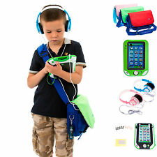 Leather Case Messenger Bag + Headphones + Screen Protector for LeapPad Ultra XDi