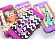 iPhone 4 4G 4S - Hard & Soft Rubber Hybrid Armor High Impact Case Cover PURPLE