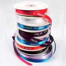 Personalized Continuous Foil Printed Satin Favor Ribbon in 33 Color Choices