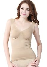 Lady Seamless Tummy Control Body Shaper Camisole Tank Top Shapewear S M L XL XXL