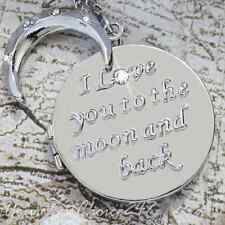 ♥♥ I Love You To The Moon and Back Locket Rare Give For Her Xmas Valentine Star
