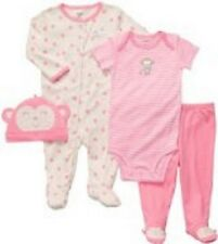 Carters Adorable Monkey Layette Set 4-Piece Set