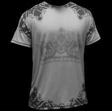 NEW & UNIQUE TEE STYLE T-SHIRT GRAY CROWN GREAT FOR WORKOUT OR CLUB WEAR !!