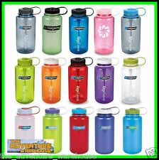 Nalgene Tritan 1L (32oz) Wide Mouth Water Bottle - BPA Free - Assorted Colours