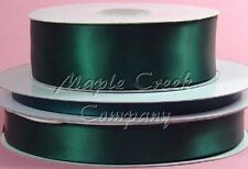 Double Face HUNTER GREEN Polyester Satin Ribbon Assorted Sizes Available