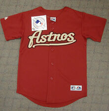 New - Houston Astros Brick Red Majestic Stitched Home Jersey - Youth Sizes