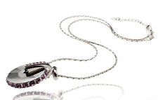 Janeo Silver Swarovski Crystal Elements Pendant Necklace Christmas Gift For Her