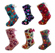 Ladies Hearts Indoor Slipper Boots Size 4-6 Various Colours Available