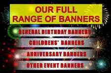 FULL RANGE: Strong Waterproof, Outdoor Personalised Birthday Party Event Banners