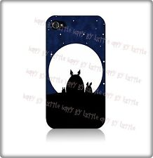 My Neighbor Totoro Gift Cover Hard Case Made For Iphone 4 / 4s / 5 Black - White