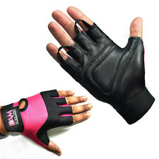DAM LEATHER WEIGHT LIFTING GYM GLOVES, BODY BUILDING EXERCISE  WOMEN'S ONLY