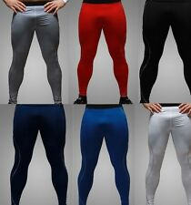 Hot Men's Base Layer Pants Tights Sporting Running Gym Red Navy Black White 5102