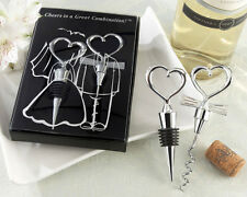 Cheers to a Great Combination Wine Bottle Corkscrew Set Wedding Bridal Favors
