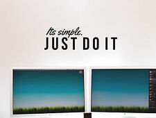 """Just do it Nike Inspirational Wall Decal Quote """"I'ts simple, just do it"""" 36 x 11"""