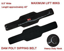 DAM NEOPRENE DIPPING DIP BELT GY WEIGHT LIFTING BODY BUILDING WORKOUT TRAINING