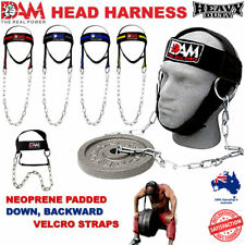 DAM GYM WEIGHT LIFTING HEAD NECK STRENGHT HARNESS STRAP FITNESS EXERCISE NEW